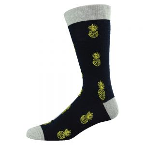DITSY PINEAPPLE BAMBOO SOCKS - SUNBEAM