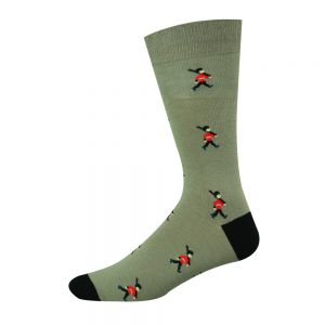 Toy Soldier BambooSocks - Stone/Black
