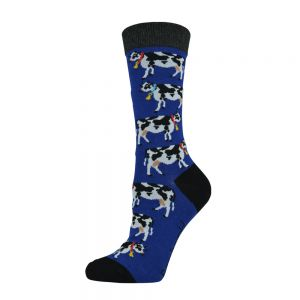 WOMENS DAISY COW SOCK