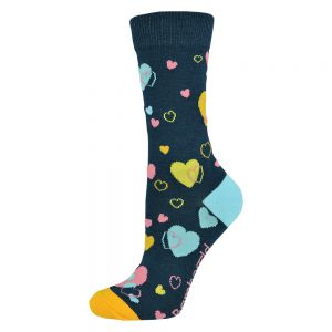 WOMENS LOVE HEARTS SOCK