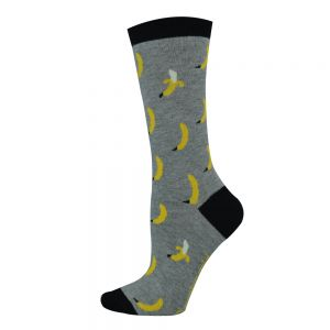 WOMENS DITSY BANANA SOCK
