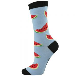 Womens Watermelon Bamboo Socks
