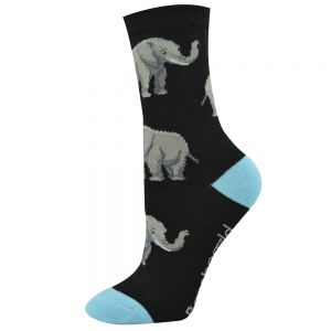 Womens Elephant Bamboo Socks
