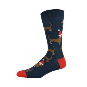 MENS CHRISTMAS DACHSHUND SOCK