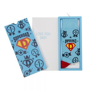 MENS SUPERDAD SOCK CARD
