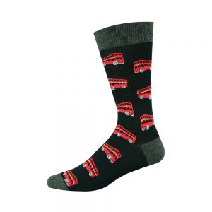 Double Decker Bus Bamboo Socks