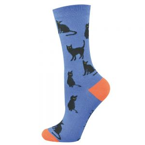 WOMENS BLACK CAT SOCK