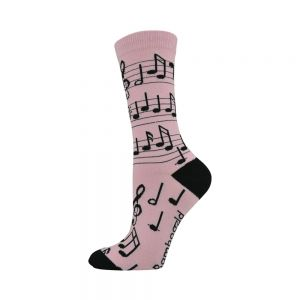 WOMENS MUSICAL NOTES SOCK