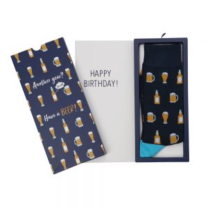 MENS BEER SOCK CARD