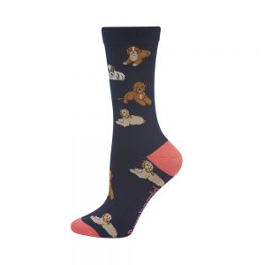 WOMENS CAVOODLES BAMBOO SOCK