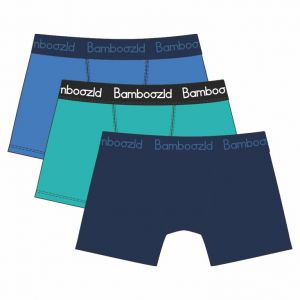 MENS COMFY BAMBOO 3 PACK TRUNKS - BLUE