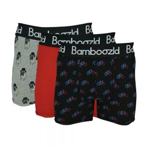 MENS 3PK UNDERWEAR TRUNKS – HIPSTER PUG/RED/ONYA BIKE