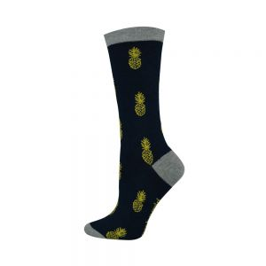 Womens Pineapple Design Bamboo Socks