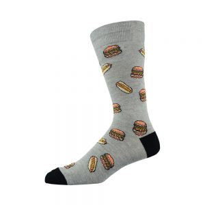 Bamboozld Bamboo Fast Food Sock - Grey