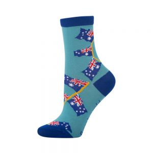 Kids bamboo Australian flag socks