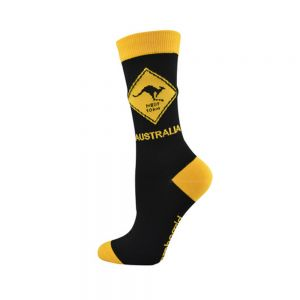 WOMENS KANGAROO ROAD SIGN SOCK