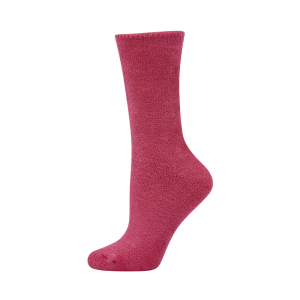 WOMENS COMFY BRUSHED BAMBOO BED SOCK - BERRY