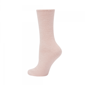 WOMENS COMFY BRUSHED BAMBOO BED SOCK - PINK