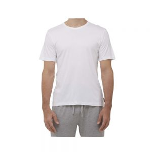 MENS COMFY BAMBOO SLEEP TEE - WHITE