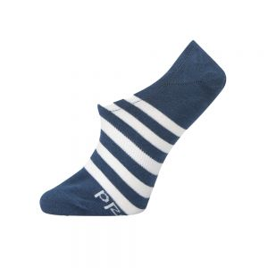 WOMENS STRIPED SECRET SOCK - NSKY/WHT