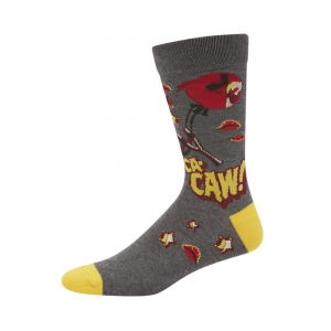 MENS ANGRY BIRDS  CACAW BAMBOO SOCK